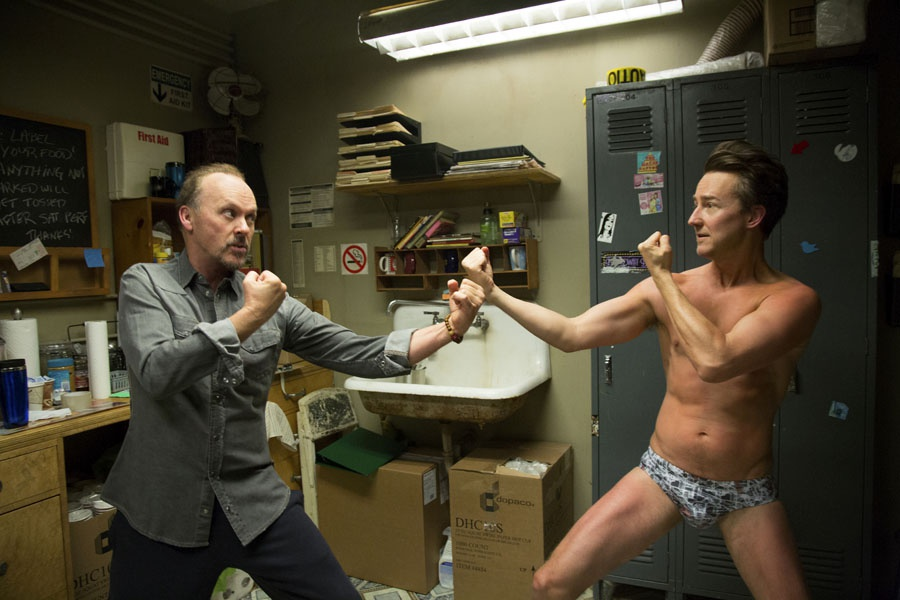 Michael Keaton, Edward Norton | Źródło: filmweb