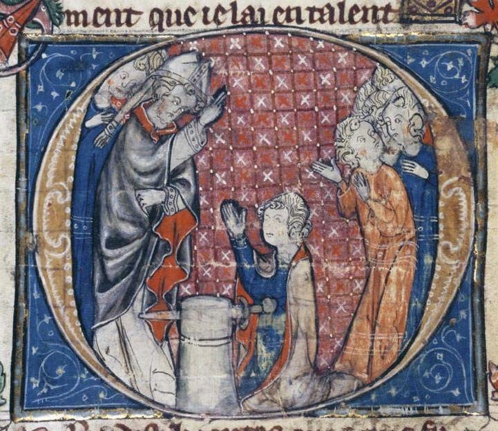 Młody Artur wyciąga miecz z kamienia