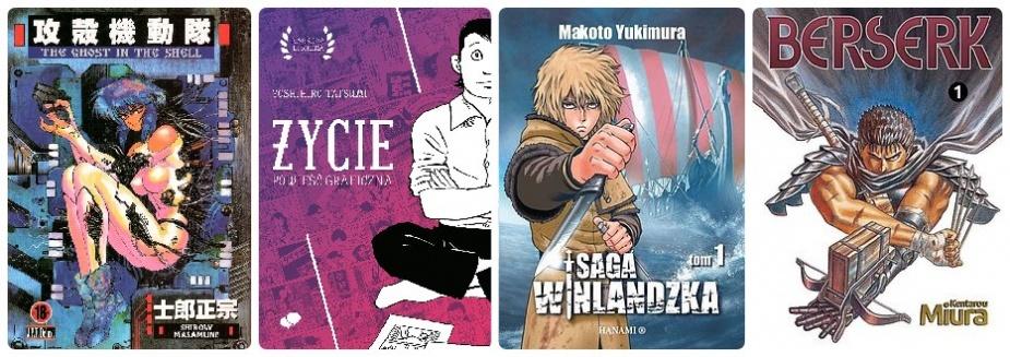Przykładowe mangi dla dorosłego czytelnika