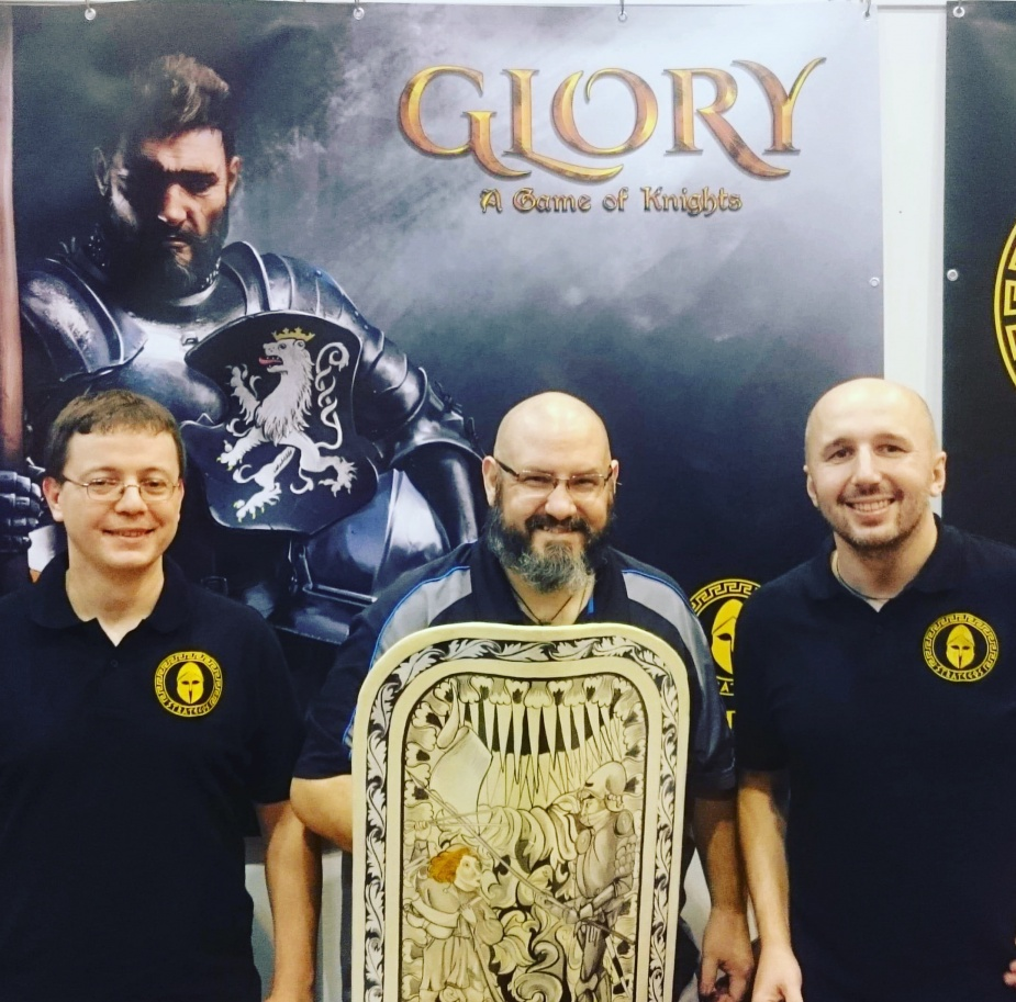Od lewej: Marcin 'Wis' Wisthal, Sam Healey (Dice Tower), Dominik 'Lir' Mucha