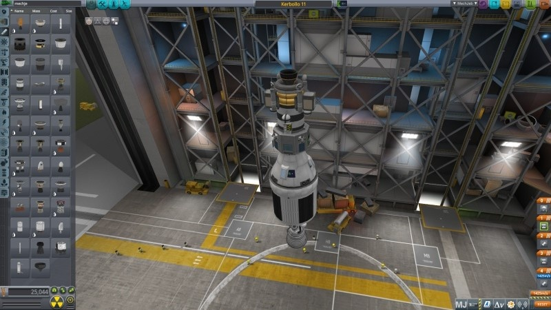 Lądownik i moduł serwisowy Kerbollo 11 w budowie