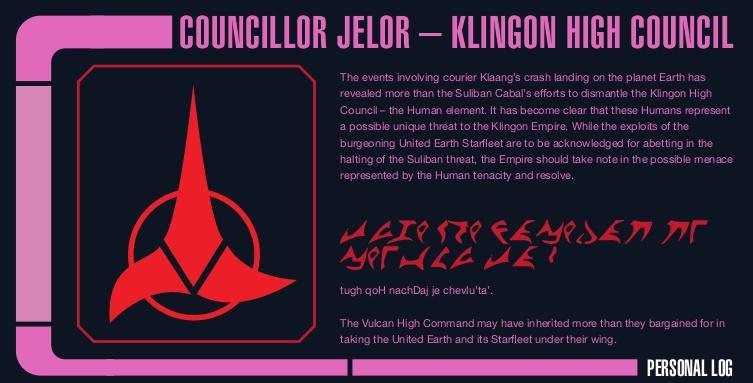 Przykładowy raport Klingonów może być fajną zahaczką fabularną
