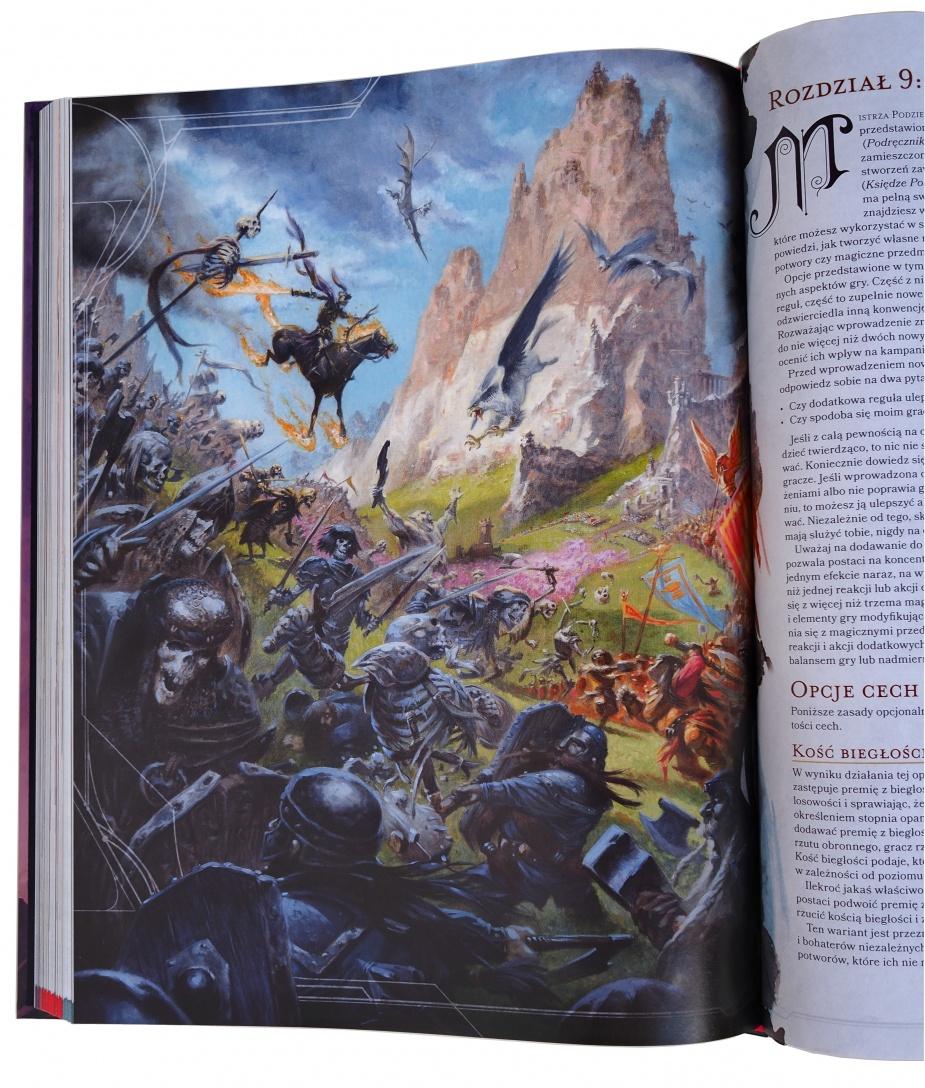 W podręczniku jest kilka staroszkolnych ilustracji.