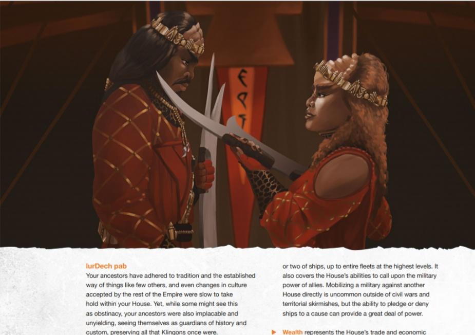Kobiety w klingońskim społeczeństwie są traktowane na równi z mężczyznami.