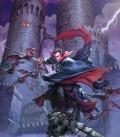 Krainy mgłą spowite na które pan ich z murów zamku Ravenloft spogląda