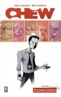 Przykładowe plansze komiksu Chew #1: Przysmak konesera