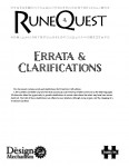 RuneQuest 6th Edition Errata & Clarifications