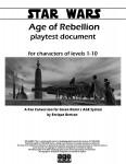 Star Wars: Age of Rebellion playtest document